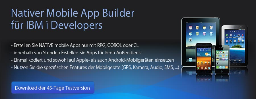 Nativer Mobile App Builder für RPG Developers